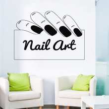 Nail Art Nail Polish Wall Sticker Vinyl Art Removable Beauty Salon Decoration For Business Decor Poster Mural Decals LY1258