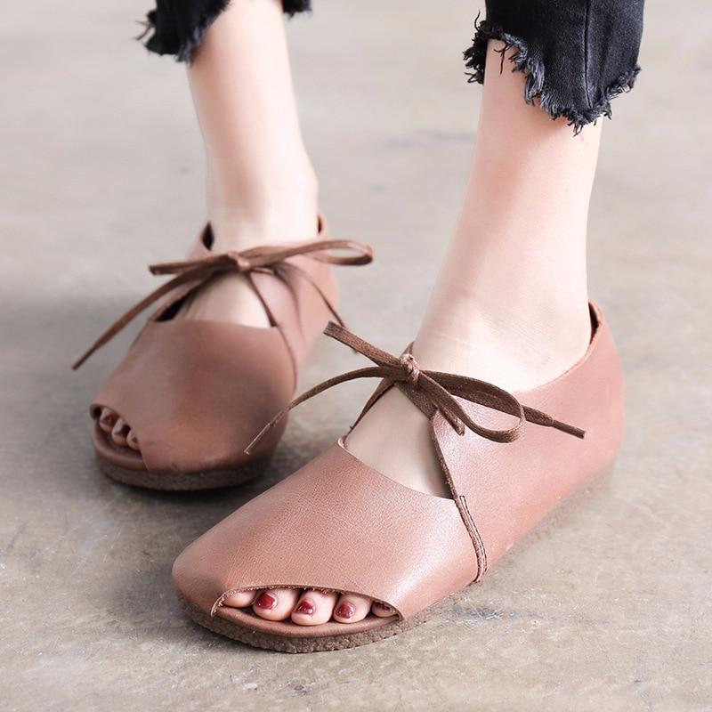 Frauen Schuhe Sommer Frauen Casual Flachen Sandalen Schnürschuhe - Damenschuhe - Foto 2