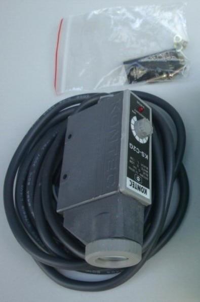 Kontec Photoelectric Switch KS-C2G NPN 12mm 12-30VDC Red LED IP66 NIB e3x da21 s photoelectric switch