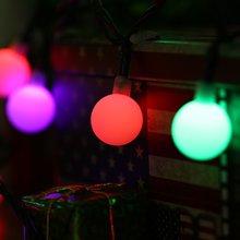 Solar Globe 50 LED Ball String