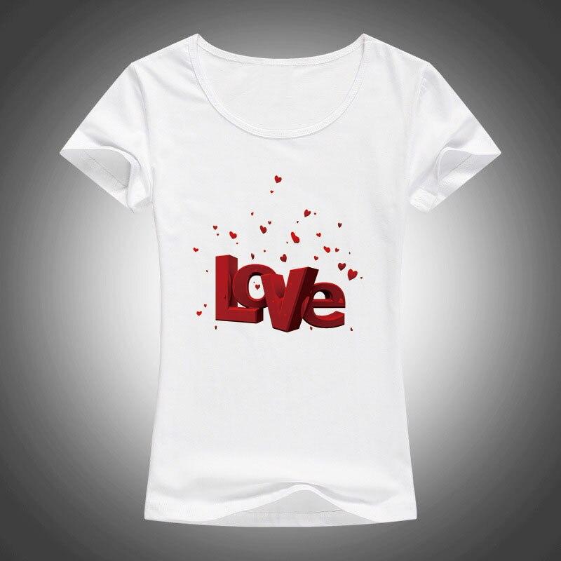 Verano nuevas mujeres camisetas día de San Valentín carta de amor - Ropa de mujer