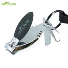 Booms Fishing FC1 Fly Lines Clipper Nipper Scissors Hook Sharpener Tools Portable Stainless Steel with Lanyard