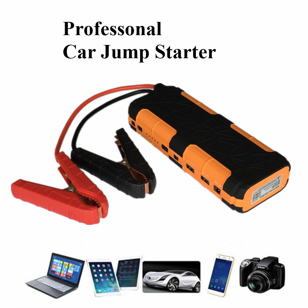 12V Petrol Diesel Car Jump Starter Portable 600A Car Battery Booster Charger High Power 2USB Power Bank SOS Lights Free Ship  2017 high capacity 15000mah car jump starter portable 12v car battery booster charger mobile 2usb power bank sos light free ship