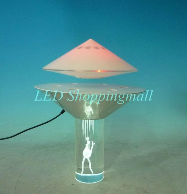 Ufo Table Lamp: DHL Freeshipping new coming Magnetic Floating UFO light Electromagnetic  levitation led table lamp, fantastic novelty,Lighting