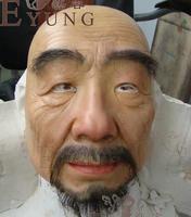 Высокая Класс 100% кремния партии человека старик маска силиконовая маска для лица силиконовая маска Хэллоуин косплей кросс одевания маска с