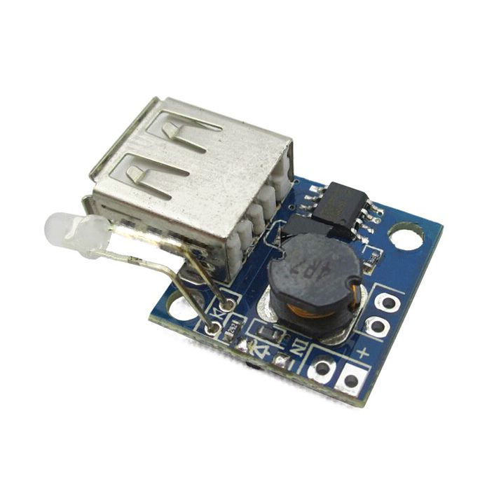 Ultra-small mobile power board charge indicator 3A high efficiency step-up board DC-DC boost module