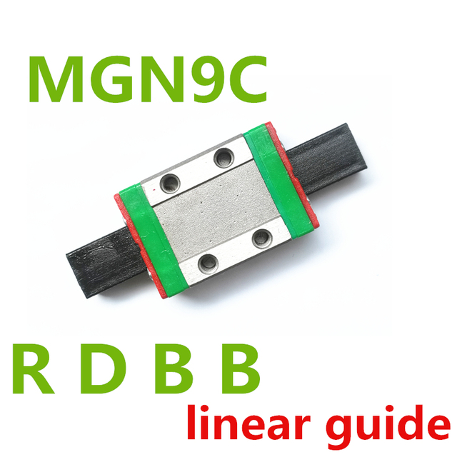 Nuevo 9mm de guía lineal MGN9 100, 150, 200, 250, 300, 350, 400, 450, 500, 550, 600, 700 mm lineal riel + MGN9H o MGN9C de 3d impresora CNC