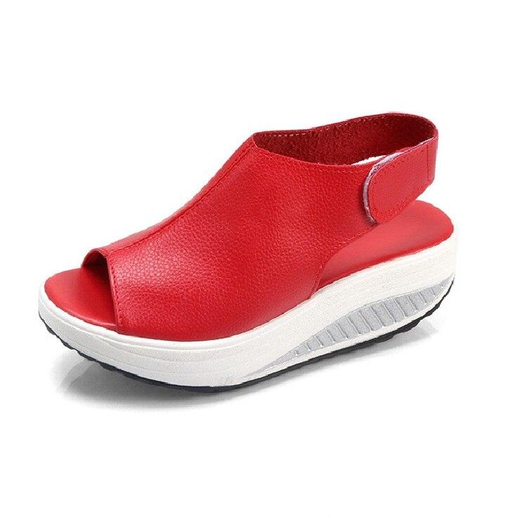 f385d4f5a5e160 noir Poissons D'été Sandales Coins Plate Zapatos Beige Toe Cru forme kaki  Talons Peep rouge Mujer 2 Hauts Sandale Taille Orteil Chaussures ...