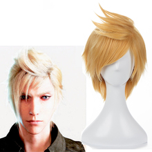 Game Final Fantasy Cosplay Wigs Prompto Argentum Wig Heat Resistant Synthetic Hair Halloween Party Anime