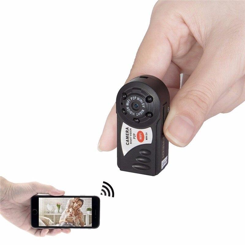 Original Q7 IP WiFi Mini cámara de la visión nocturna IR P2P inalámbrico Micro Cam Control remoto Video Espia oculta para iPhone Android