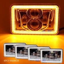 4X6 Автомобильные светодиодные фары квадратного света белый герметичный луч дальнего/ближнего света замена светодиодные фары для Ford грузовиков Offrord