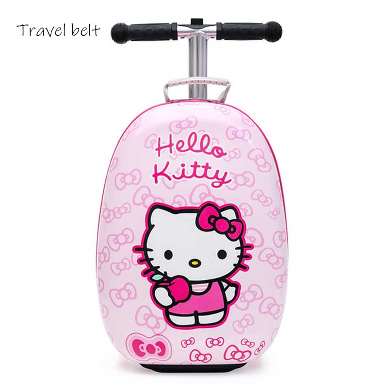 CARRYLOVE Cartoon high quality suitable for children skateboard multifunctionPC Rolling Luggage Spinner brand Travel SuitcaseCARRYLOVE Cartoon high quality suitable for children skateboard multifunctionPC Rolling Luggage Spinner brand Travel Suitcase