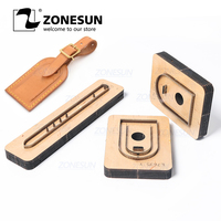 ZONESUN Custom Leather Die Cuts For Handmade Luggage Tag DIY Wedding Favors Cutting Clicker Die Steel Rule Die Leather Tools