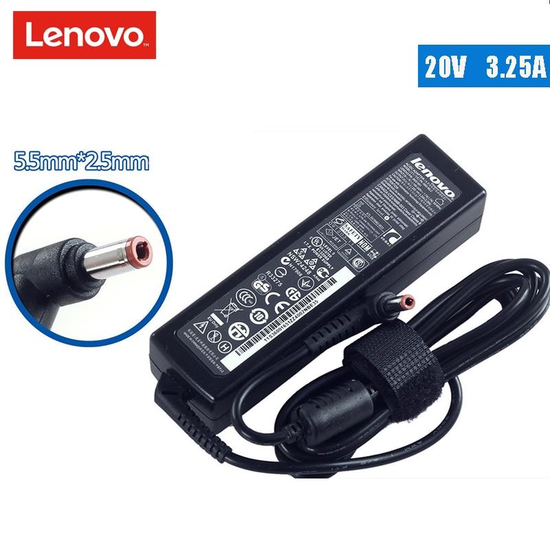 Original 20V 3.25A Laptop AC Adapter Charger Power Supply for Lenovo G430 Z360 U410 new original 170w 20v 8 5a ac laptop charger adapter power supply for lenovo thinkpad w530 w520 laptop 3 pin