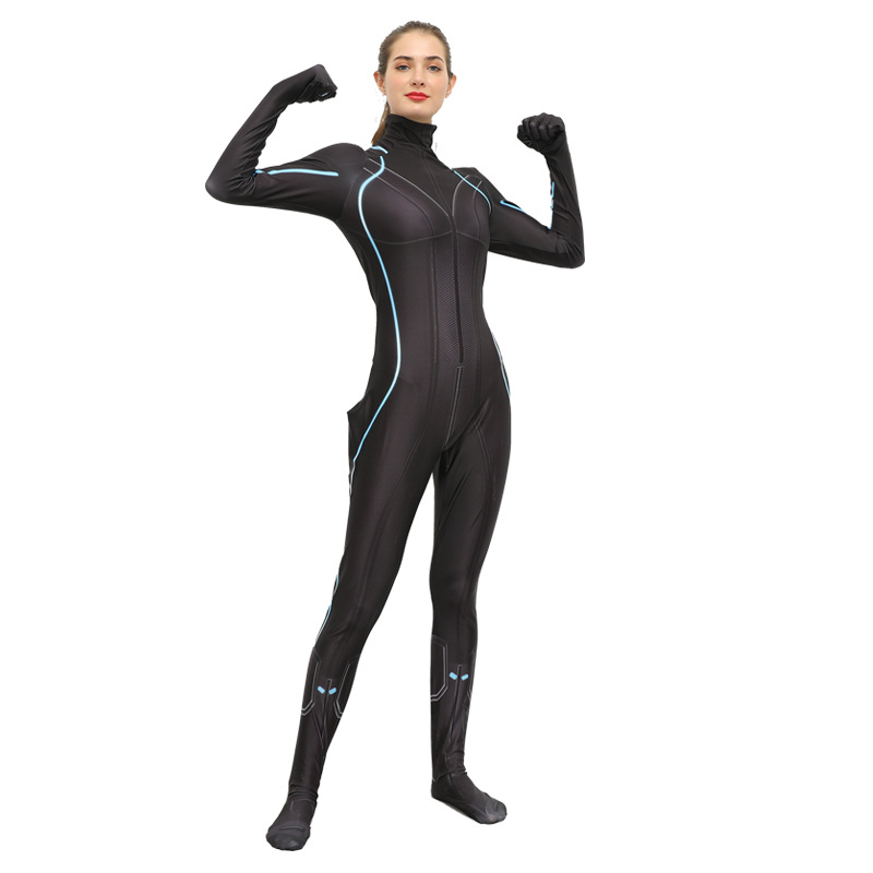 Black Widow Costume Female Sexy Superhero Fitness Jumpsuits Gym Clothing Women Yoga Sets Bodysuit Seamless Set Long Sleeve Slim