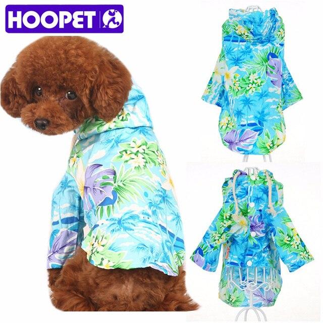Hoopet Pet Dog Clothes Summer Beach Wear Sweatshirt Hawaii Small Puppy Hoos Shirt