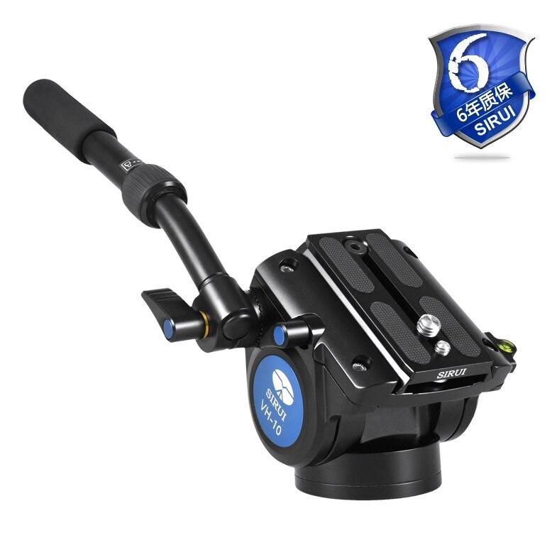 Sirui жидкая головка для камеры ножка штатива монопод Профессиональный мяч головка алюминиевая видеокамера 360 камера панорама DHL VH10
