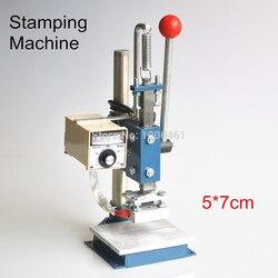1 zestaw instrukcja maszyna tłoczenie folią na gorąco folia stamper drukarki maszyna do tłoczenia skóry (5x7 cm) 110 V