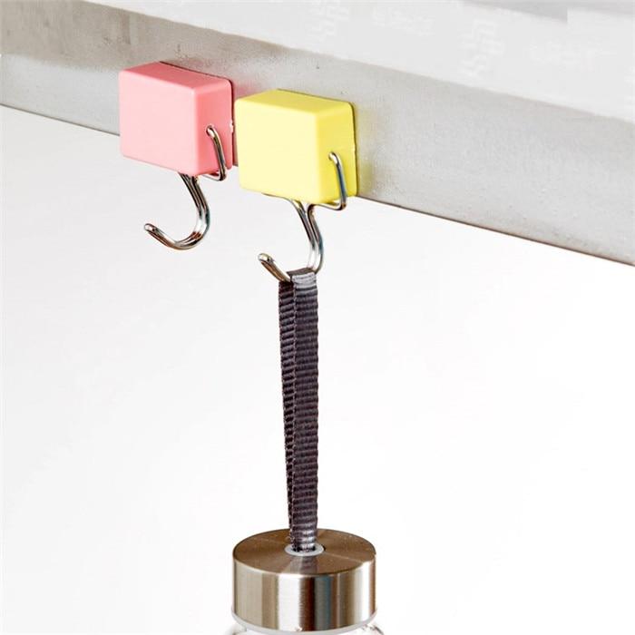 Candy Color Magnetic Hook Hanger Microwave Refrigerator Magnet Holder Home Decor