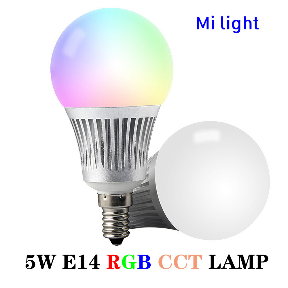 BSOD LED Bulb Lamp 5W Milight FUT013 RGB CCT E14 Light Lamp 2.4GHZ Wireless Color Temperature Adjustable Smart LED Bulb