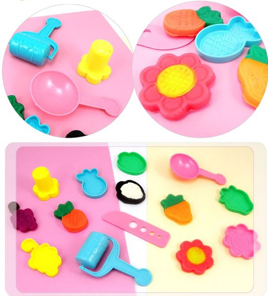 36 Pieces of color mud playdough tools  Play Dough Playdough Tools Polymer Clay Plasticine Mold Set Kit