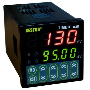 """Lot 4X Digital Twin Timer 4 Digitals Tact switch 0.39"""" height LED 12-24 B2E-2R-24 V&Free Shipping"""