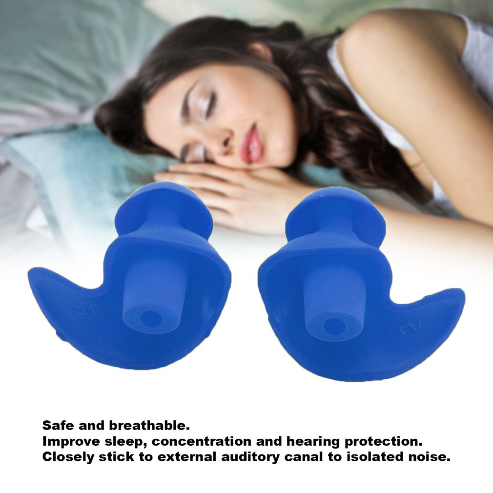 New 1 Pair Soft Silicone Ear Plugs Environmental Waterproof Dust Proof Sports Swimming Ear Plugs Water Diving Accessories