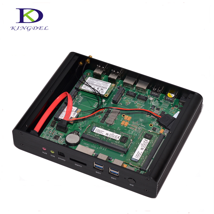 Mini Industrial PC,HTPC,Desktop Computer,Intel 4th Gen. Haswell Core i7-4500U,Barebone, 2*LAN+2*HDMI+SPDIF,Wifi,Windows 10 Pro