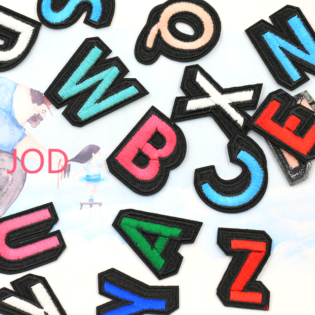 embroidered letter patches aliexpress buy jod name patch on clothes stickers 21477