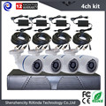 Cheap 4CH Ahd Dvr System CMOS 800TVL CCTV Camera Kit Outdoor Day/night Vision Bullet Camera Home Cctv Camera Full Complete Set