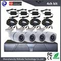 Cheap 4CH Ahd Dvr System CMOS 800TVL CCTV Camera Kit Outdoor Day/night Vision Bullet Camera Home Cctv Camera Full Complete Set