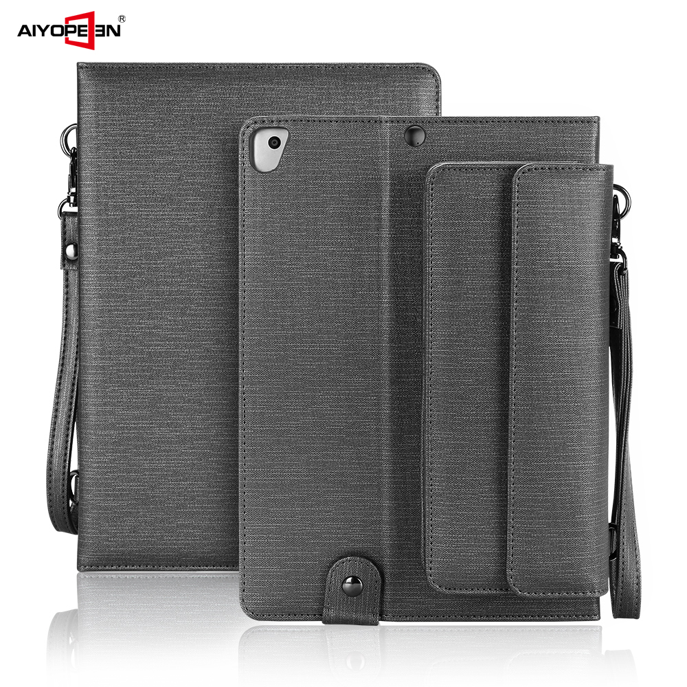AIYOPEEN Case for iPad 234 sleeve Bag Universal Case for iPad Air 1 2 tablet Pouch for iPad 9.7 2017 2018 Shoulder Bag case for ipad pro 10 5 ultra retro pu leather tablet sleeve pouch bag cover for ipad 10 5 inch a1701 a1709 funda tablet case