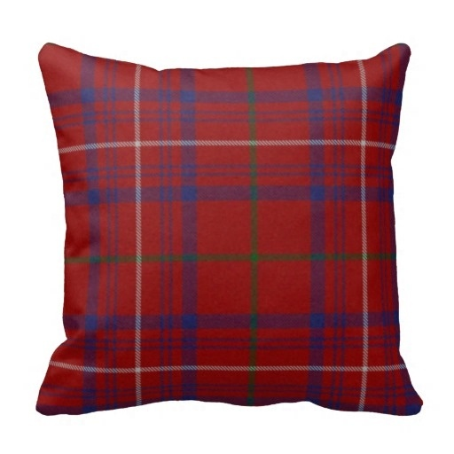 Best Case Traditional Hamilton font b Tartan b font Plaid Pillow Case Size 45x45cm Free Shipping