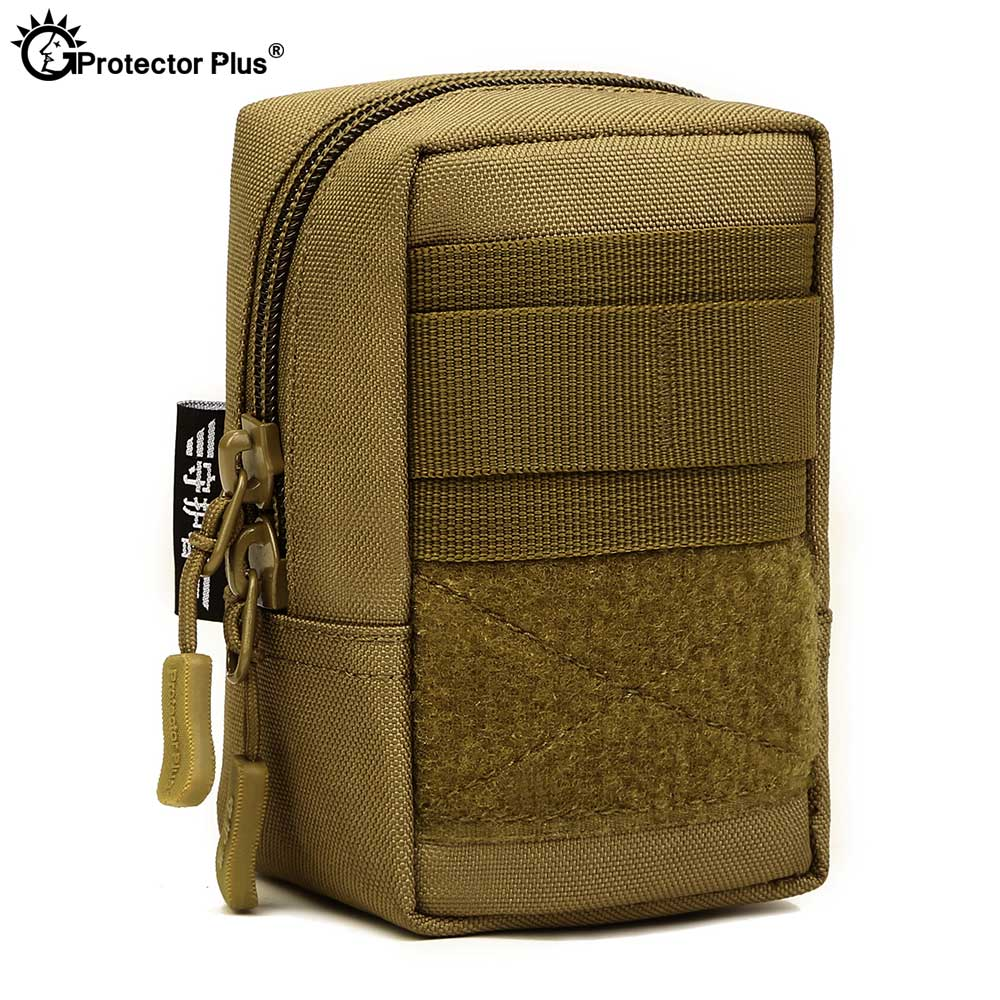 PROTECTOR PLUS Tactical Molle Pouch Attachment Military Hunting Small Waist Bag 4.7 Inches Phone Bag Men Waterproof Outdoor