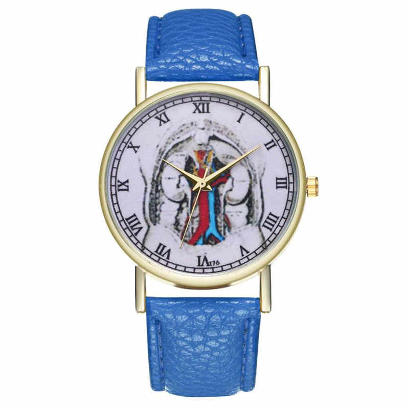 Luxus Campus frauen Uhren 2018 Neue Mode Casual Leder Band Analog Quarz Runde Handgelenk Uhren relogio masculino 38