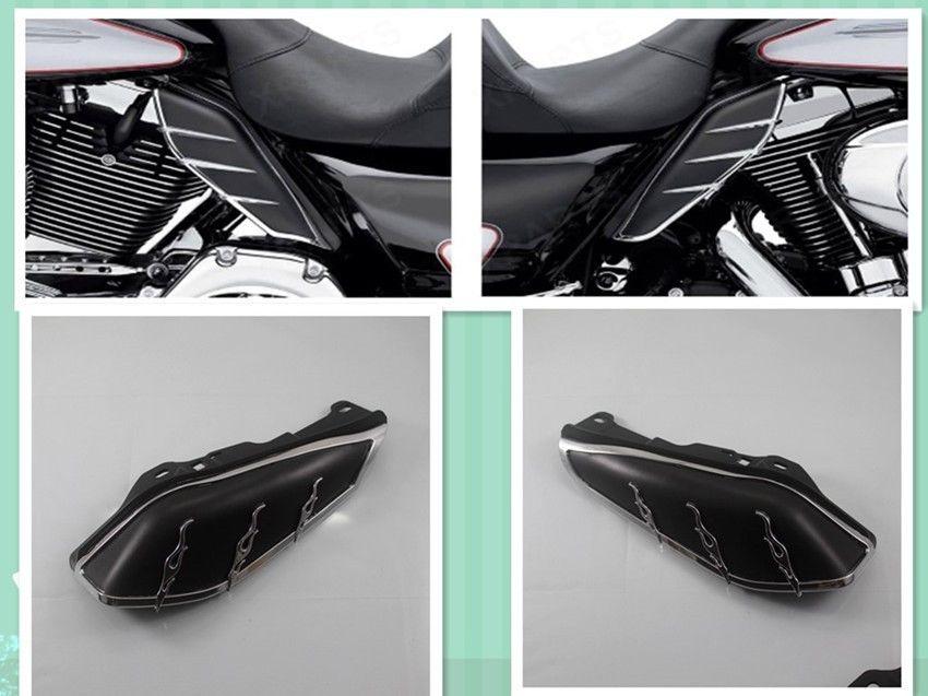 Motorrad Schwarz Mitte Rahmen Luft/Wärme Deflector Schneidet Schild ...