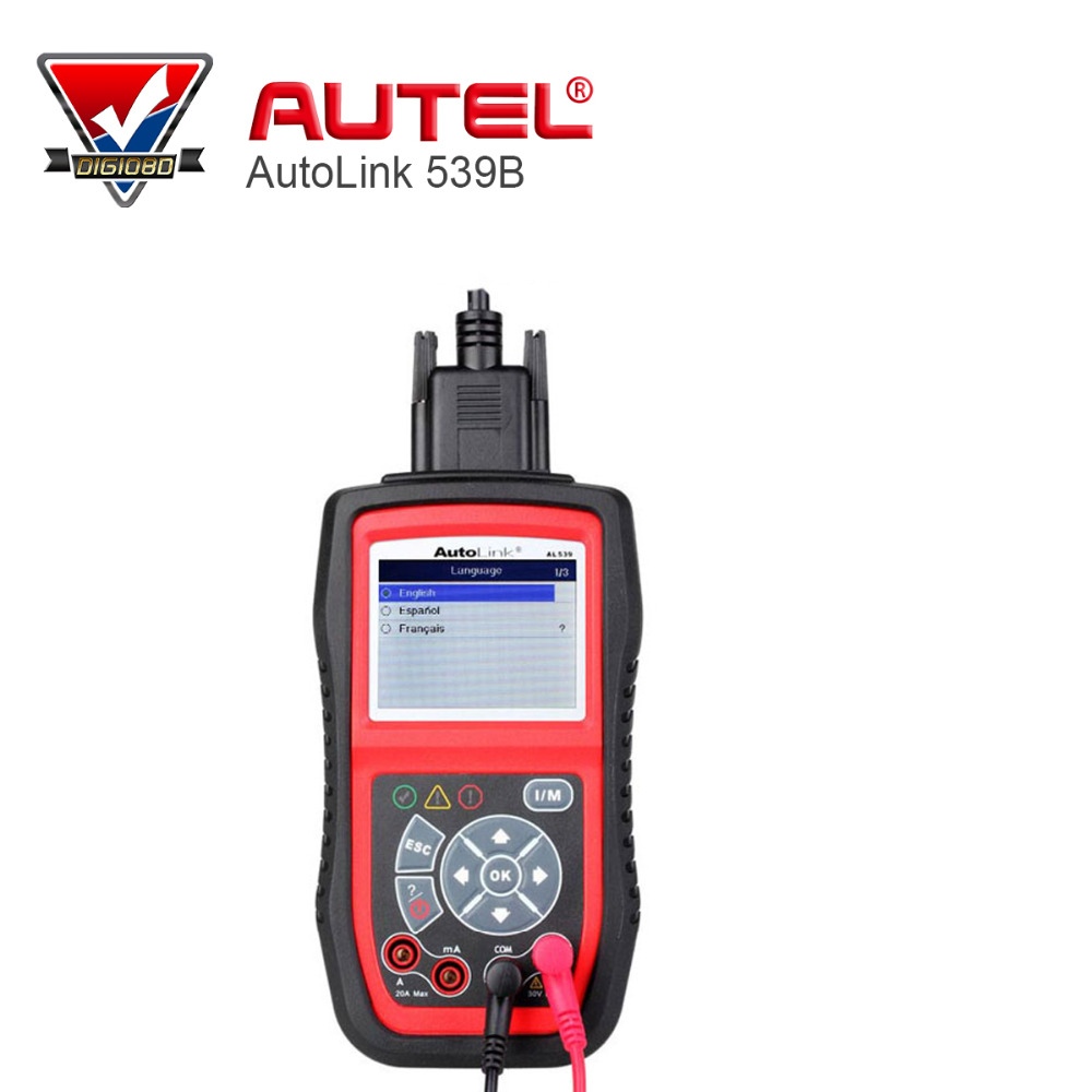100 autel autolink al539b code reader electrical and battery test tester auto dianostic tool