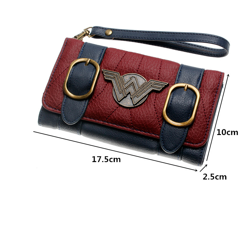 New rfid wallet women long wallet leather andDC Comics Wonder Woman Front Flap Women's Wallet PU Trifold Wallet long