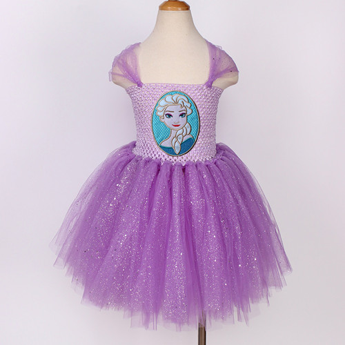Ribbon Trimmed Snow White  Birthday 1-9 Yrs Applique Outfit