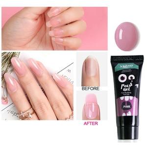 Image 3 - 12Pcs/Set Nail Art Set Poly Gel Finger Extension Clear Pink Jelly Polygel Quick Building DIY Nail Art Tool Decoration Nail Salon