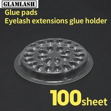 GLAMLASH Eyelash Plastic Glue Holder Gasket Adhesive Pallet Extension Pads