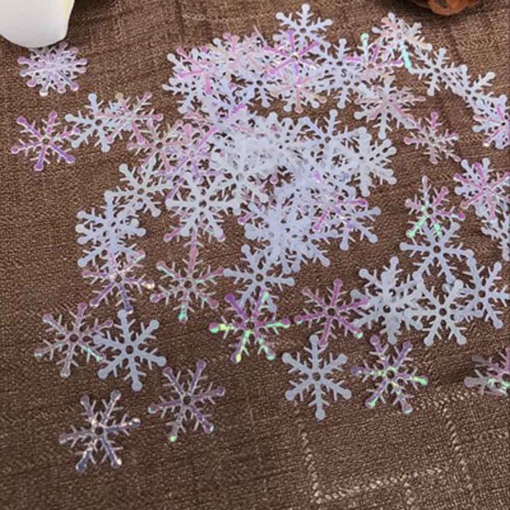 1 Pack Snowflakes Christmas Ornament Xmas Tree Hanging Decoration Holiday Garden Christmas Wedding Party Snowflake
