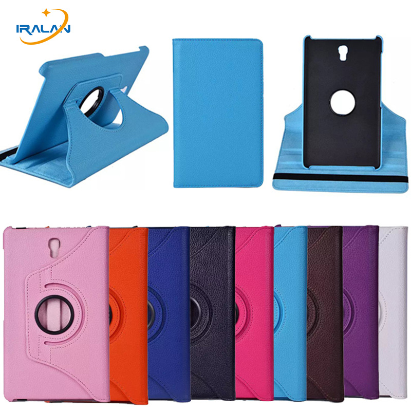 2017 New 360 Rotating Folio Smart Case For Samsung Galaxy Tab S 8.4 T700 T705 SM-T700 Tablet Protective Cover+screen Film+stylus