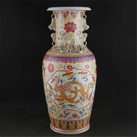 6 Antique QingDynasty porcelain vase, Pastels luminous bottle,hand painted crafts,best collection & adornment,Free shipping