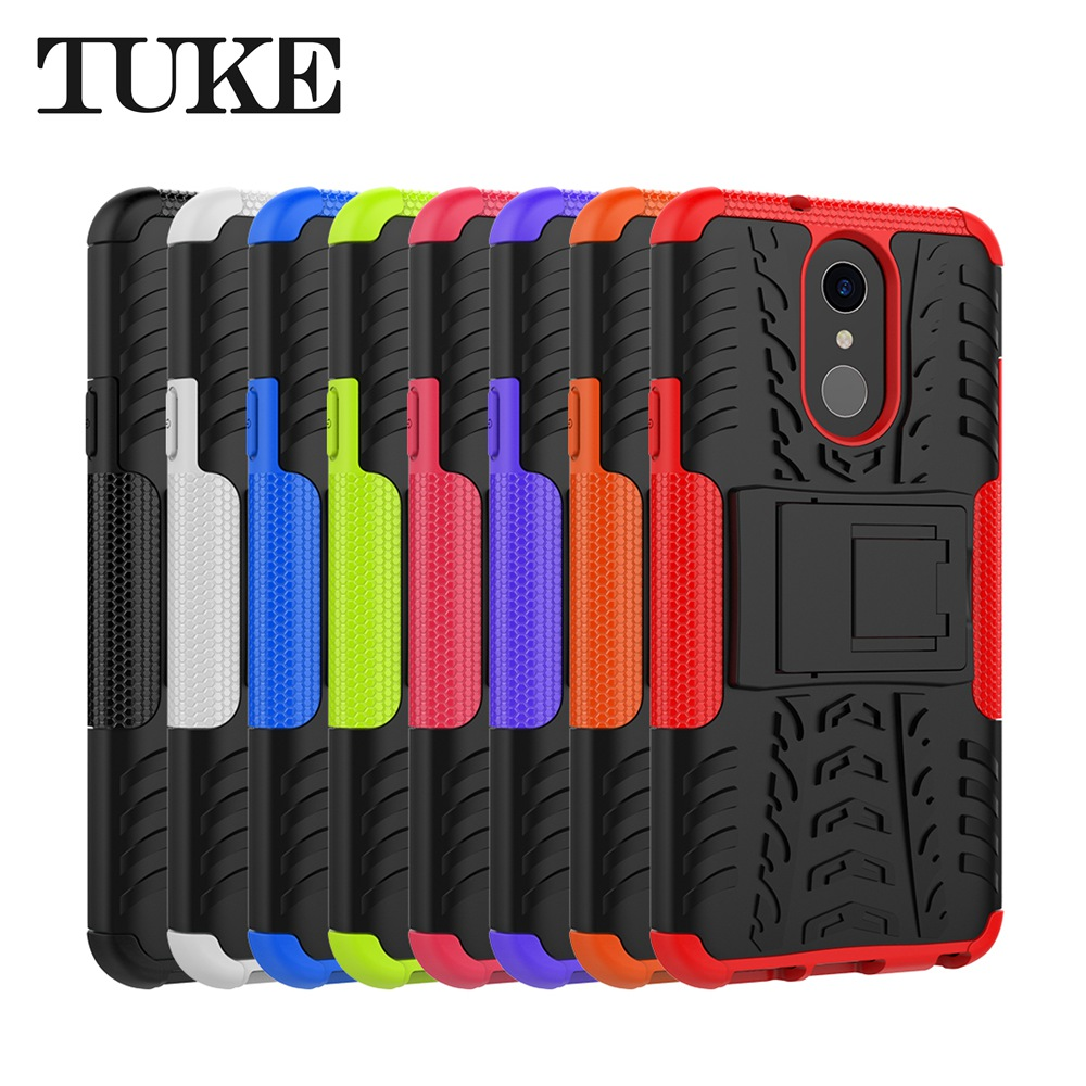 Armor Shockproof TPU+PC Case For LG Q7 Funda Stand Back Cover For LG Q7 LGQ7 Case Heavy Duty Kickstand Cover