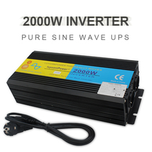 цена на 4000W UPS inverter pure sine wave DC 12V/24V to AC 220V-240V LCD Inverter+Charger & UPS,Quiet and Fast Charge power supply EU