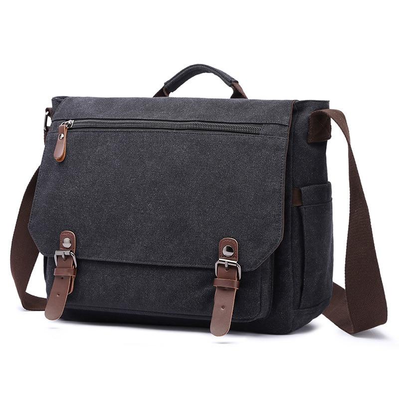 Newhotstacy Bag 062919 Men's Briefcase Men Canvas Business Bag Handbag