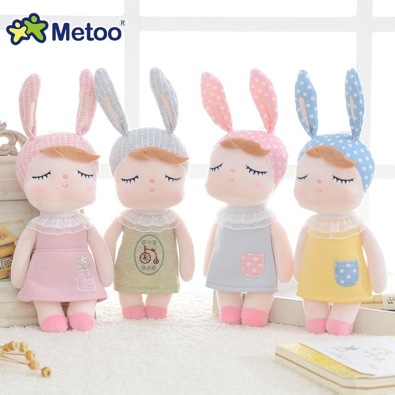 Metoo Doll Charm Kawaii Plush Stuffed Animal Cartoon Kids Toys Girls Children Baby Birthday Christmas Gift Angela Rabbit S15