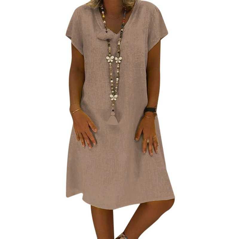 cec542e49e OEAK 2018 Summer Bohemian Dress Women Fashion Solid V-Neck Short Sleeve  Dress Casual Sexy Beach Sundress Party Boho Vestidos