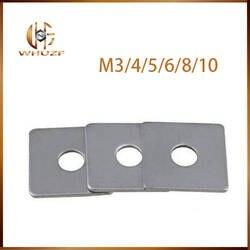 Бесплатная доставка 304 квадратная прокладка из нержавеющей стали Квадратная Шайба M3 M4 M5 m6 m8 m10 m12 M14 M16 занавес стены с квадратной шайбой